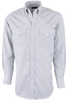 Lyle Lovett for Hamilton White and Blue Striped Poplin Shirt - Front