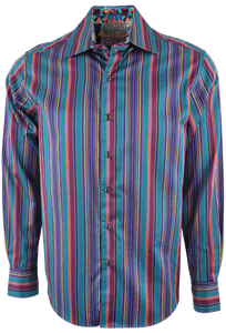 ROBERT GRAHAM TEAL FIVE BORO SPORT SHIRT- Front