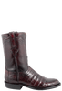 Lucchese Men's Black Cherry Ultra Caiman Crocodile Roper Boots - Side