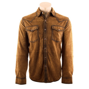 Scully Shirt Jacket - Antique Brown - Front