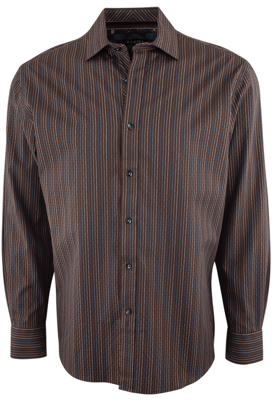 ZAGIRI LUCAS BROWN SHIRT-FRONT