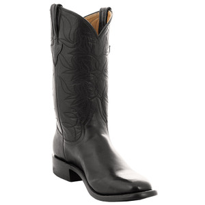 Rios of Mercedes Ladies Baby Buffalo Roper Boots - Sleek Black