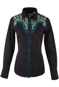 Panhandle Slim Embroidered Yoke Snap Shirt - Front
