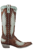"Old Gringo Women's Brass and Aqua Iron Eagle 13"" Boots - Side"