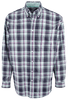 Cinch Navy, White, Aqua and Pink Plaid Shirt - Front