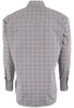 LYLE LOVETT FOR HAMILTON OLIVE, PINK AND ORANGE CHECK SHIRT-BACK