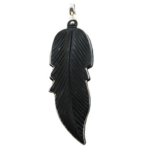 Coreen Cordova Black Feather Charm