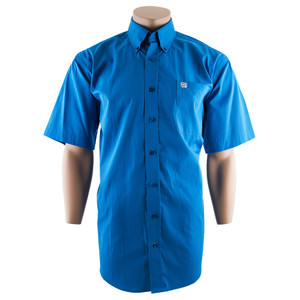 Cinch Short Sleeve Blue Microstripe Shirt