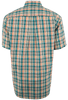 Cinch Short Sleeve Yellow, Green and Orange Plaid Shirt - Back