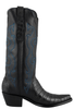 Stallion Women's Black Caiman Crocodile Triad Boots - Side