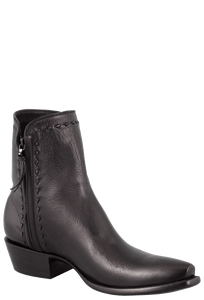 Stallion Men's Zorro Black Argentinian Calf Ankle Boots with Snip Toe - Hero