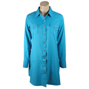 Cowgirl Justice Turquoise Renegade Snap Dress
