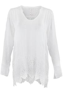 Johnny Was Sheared Yoke Tunic - Front