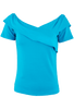 Vintage Collection Criss Cross Top - Turquoise - Front