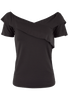 Vintage Collection Criss Cross Top - Black - Front