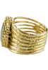 Christina Greene Pyrite Stackable Ring - Side