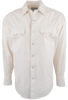 PINTO RANCH BY STUBBS ECRU PINPOINT SNAP SHIRT-FRONT
