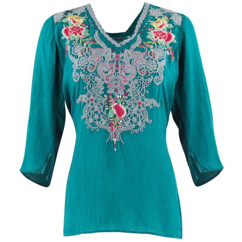 Johnny Was Mendi Blouse - Front