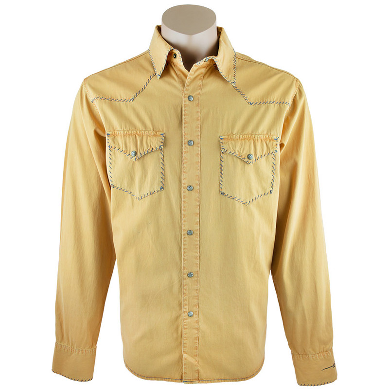Ryan Michael Whipstitch Snap Shirt - Canary - Front