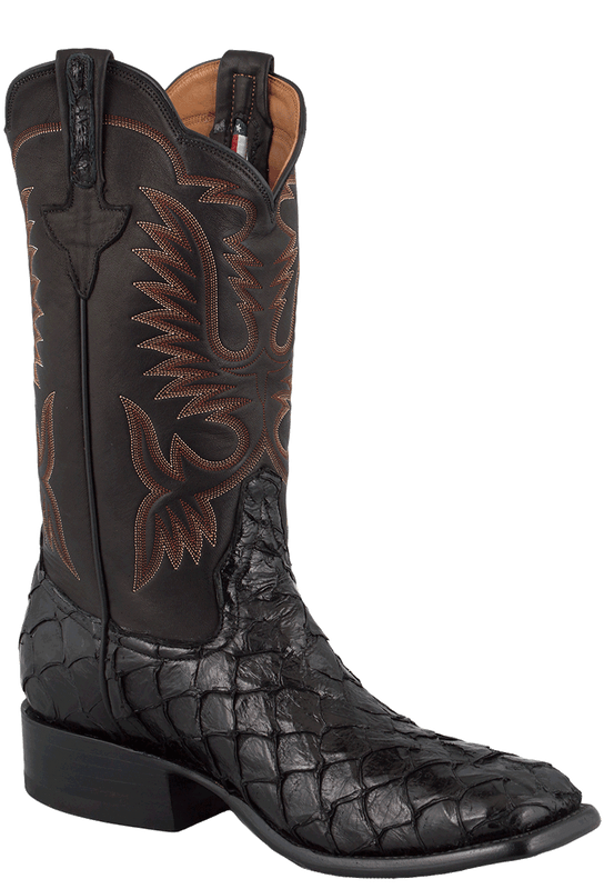 Rios of Mercedes Men's Black Pirarucu Boots - Hero