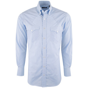 Lyle Lovett for Hamilton Light Blue Jacquard - Front