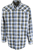 Miller Ranch Blue and Green Plaid Snap Shirt - Front