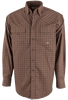 Miller Ranch Brown and Tan Check Shirt - Front