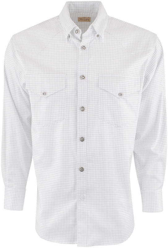 STUBBS WHITE AND BLACK CHECK SHIRT-FRONT