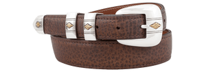 "American Bison 1 1/4-1"" Tapered Belt - Dark Brown"