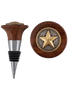 Home - Texas Theme Wine Stoppers - 3D Gold Star with Silver and Gold Ring
