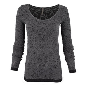 Last Tango Long Sleeve Heather Lace Top - Front