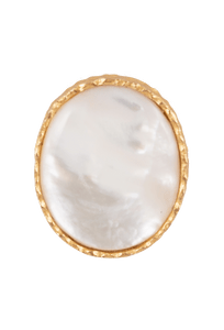 Christina Greene Mother of Pearl Round Ring - Front