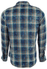 RYAN MICHAEL DOUBLE PLAID SHIRT - INDIGO- BACK