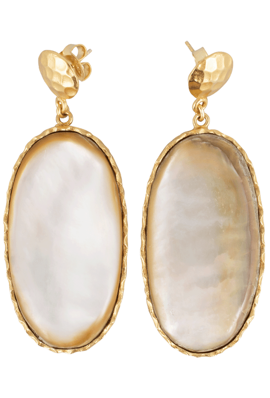 Christina Greene Mother of Pearl Large Drop Earrings