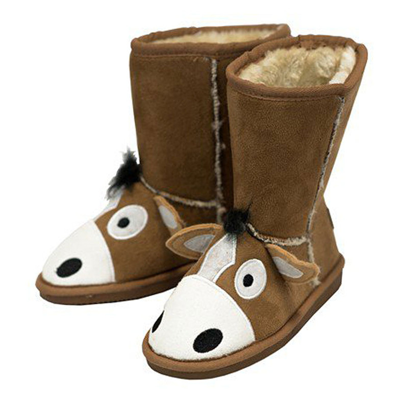 Kids - Toasty Toes Horse Slippers