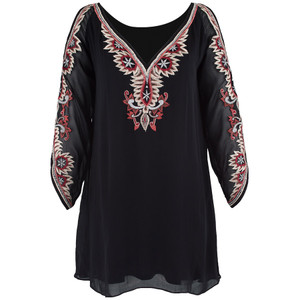 Tunic - Navajo Black Tunic - Front