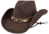 Bullhide Skynard Wool Pinch Front Hat - Chocolate - Hero