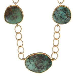 Christina Greene Turquoise Station Necklace - Front