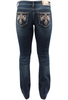 Grace in LA Junior Bootcut Thunderbird Jeans - Back