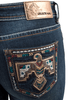 Grace in LA Junior Bootcut Thunderbird Jeans - Detail