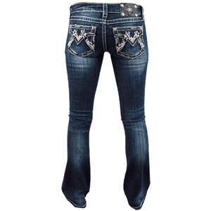 Miss Me M Pocket Bootcut Jeans
