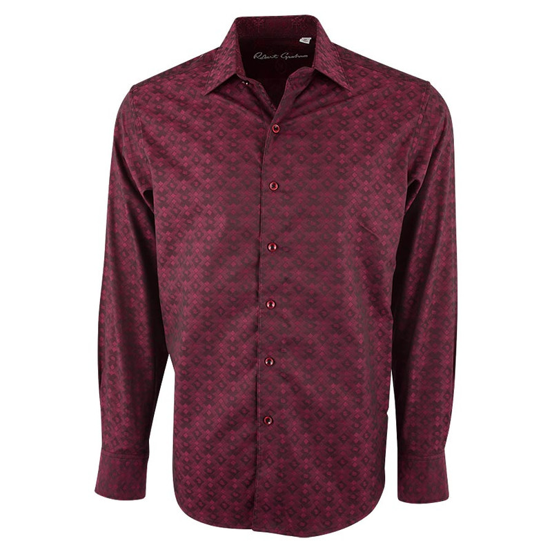 Robert Graham O'Donnell Red Diamond Shirt - Front