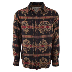 Ryan Michael Aztec Cross Jacquard Western Shirt