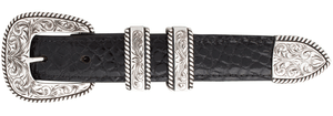 "Horst Schrader Heavy Rope Edge Engraved 1"" Buckle Set"