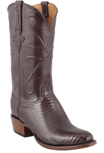 Lucchese Men's Sport Rust Lizard Boots - Hero