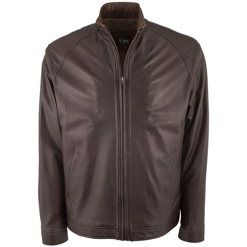 Remy Nappa Lambskin Jacket - Moccasin - Front