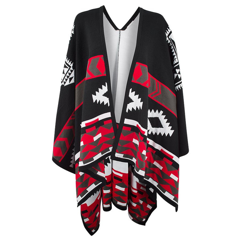 Cowgirl Justice Comanche Poncho Reversible Shawl - Front