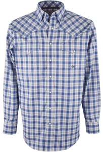 Miller Ranch Blue Plaid Snap Shirt - Front