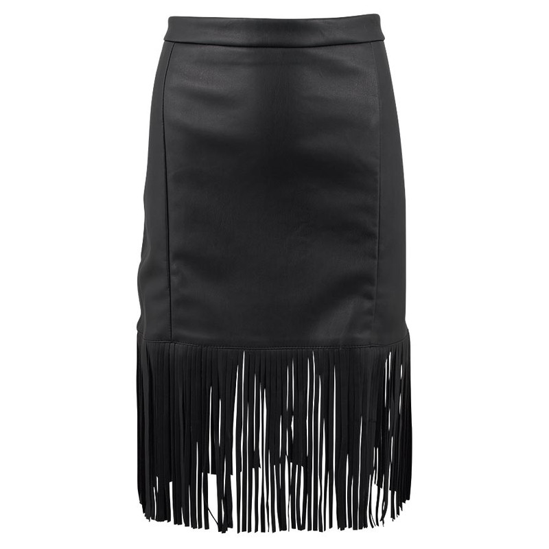 bagatelle faux leather fringe skirt pinto ranch