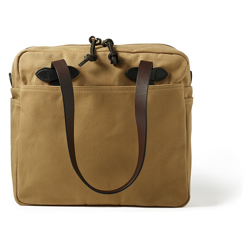 Filson Zippered Tote Bag - Tan - Front